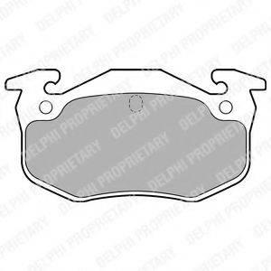 Комплект тормозных колодок, дисковый тормоз DELPHI LP699