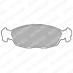 Комплект тормозных колодок, дисковый тормоз DELPHI LP702
