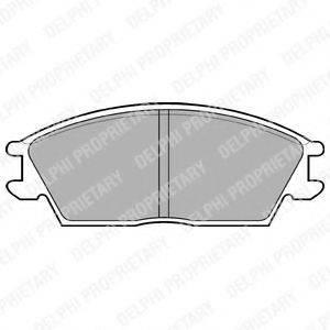 Комплект тормозных колодок, дисковый тормоз DELPHI LP704
