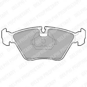Комплект тормозных колодок, дисковый тормоз DELPHI LP705