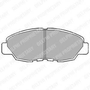 Комплект тормозных колодок, дисковый тормоз DELPHI LP734