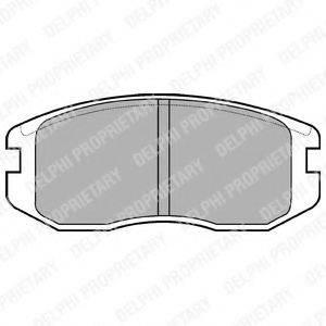 Комплект тормозных колодок, дисковый тормоз DELPHI LP736