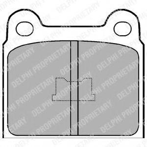 Комплект тормозных колодок, дисковый тормоз DELPHI LP76