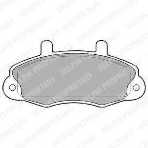 Комплект тормозных колодок, дисковый тормоз DELPHI LP766