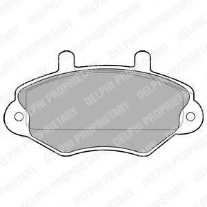 Комплект тормозных колодок, дисковый тормоз DELPHI LP767