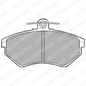 Комплект тормозных колодок, дисковый тормоз DELPHI LP770