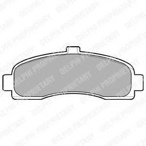 Комплект тормозных колодок, дисковый тормоз DELPHI LP779