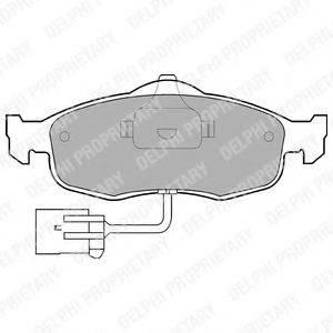 Комплект тормозных колодок, дисковый тормоз DELPHI LP781
