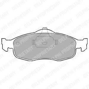 Комплект тормозных колодок, дисковый тормоз DELPHI LP782