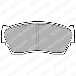 Комплект тормозных колодок, дисковый тормоз DELPHI LP783