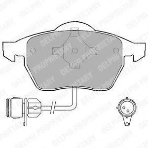 Комплект тормозных колодок, дисковый тормоз DELPHI LP784