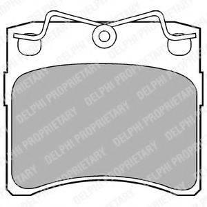 Комплект тормозных колодок, дисковый тормоз DELPHI LP785