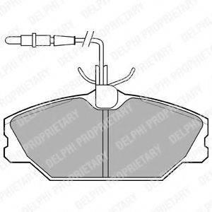 Комплект тормозных колодок, дисковый тормоз DELPHI LP788