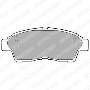 Комплект тормозных колодок, дисковый тормоз DELPHI LP789