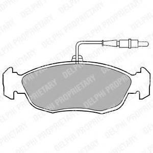 Комплект тормозных колодок, дисковый тормоз DELPHI LP793