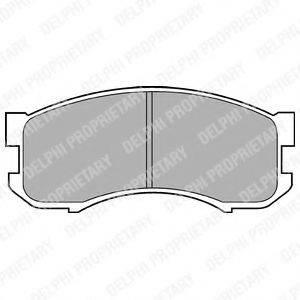 Комплект тормозных колодок, дисковый тормоз DELPHI LP800