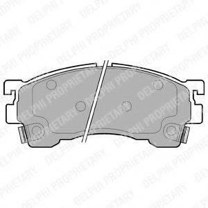 Комплект тормозных колодок, дисковый тормоз DELPHI LP801