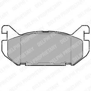 Комплект тормозных колодок, дисковый тормоз DELPHI LP802