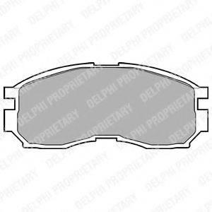 Комплект тормозных колодок, дисковый тормоз DELPHI LP803