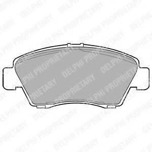 Комплект тормозных колодок, дисковый тормоз DELPHI LP809