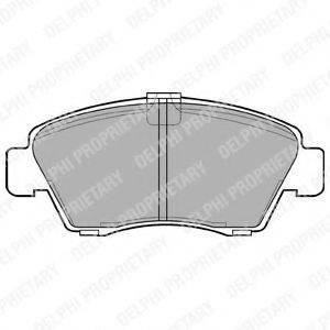 Комплект тормозных колодок, дисковый тормоз DELPHI LP810