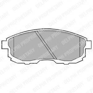 Комплект тормозных колодок, дисковый тормоз DELPHI LP812