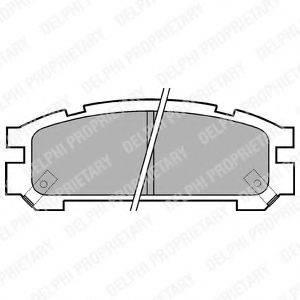Комплект тормозных колодок, дисковый тормоз DELPHI LP814
