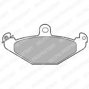 Комплект тормозных колодок, дисковый тормоз DELPHI LP821