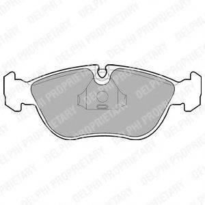 Комплект тормозных колодок, дисковый тормоз DELPHI LP839