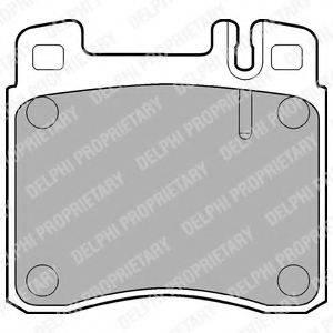 Комплект тормозных колодок, дисковый тормоз DELPHI LP840