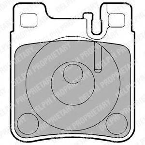 Комплект тормозных колодок, дисковый тормоз DELPHI LP841