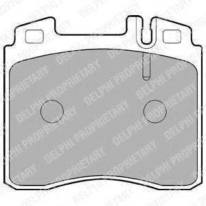 Комплект тормозных колодок, дисковый тормоз DELPHI LP842