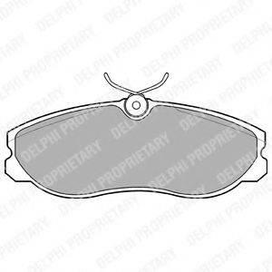 Комплект тормозных колодок, дисковый тормоз DELPHI LP847