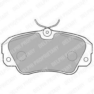 Комплект тормозных колодок, дисковый тормоз DELPHI LP848