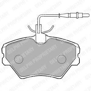 Комплект тормозных колодок, дисковый тормоз DELPHI LP862