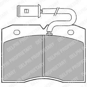 Комплект тормозных колодок, дисковый тормоз DELPHI LP863