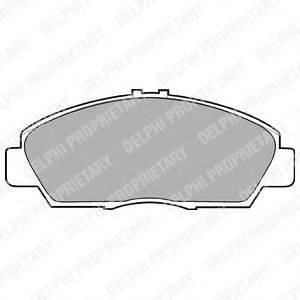 Комплект тормозных колодок, дисковый тормоз DELPHI LP869