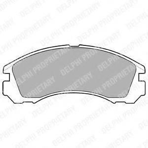 Комплект тормозных колодок, дисковый тормоз DELPHI LP871