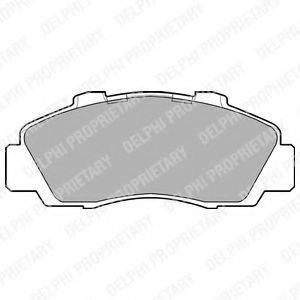 Комплект тормозных колодок, дисковый тормоз DELPHI LP872