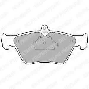 Комплект тормозных колодок, дисковый тормоз DELPHI LP873