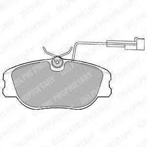 Комплект тормозных колодок, дисковый тормоз DELPHI LP875