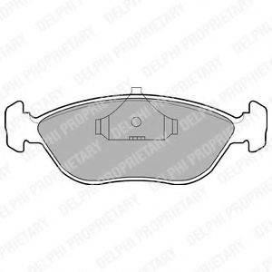 Комплект тормозных колодок, дисковый тормоз DELPHI LP876