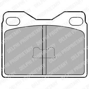 Комплект тормозных колодок, дисковый тормоз DELPHI LP88