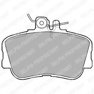 Комплект тормозных колодок, дисковый тормоз DELPHI LP881