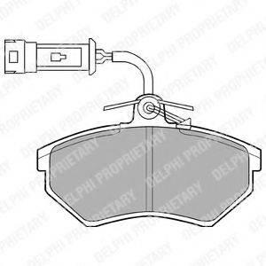 Комплект тормозных колодок, дисковый тормоз DELPHI LP884