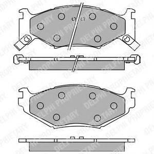 Комплект тормозных колодок, дисковый тормоз DELPHI LP891
