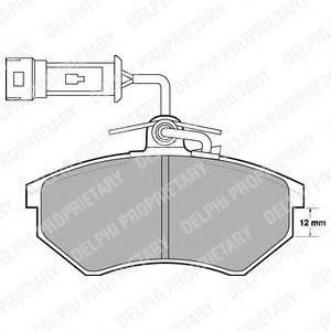 Комплект тормозных колодок, дисковый тормоз DELPHI LP901