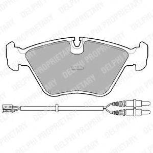 Комплект тормозных колодок, дисковый тормоз DELPHI LP906