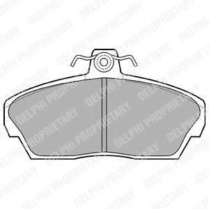 Комплект тормозных колодок, дисковый тормоз DELPHI LP911