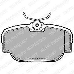 Комплект тормозных колодок, дисковый тормоз DELPHI LP914